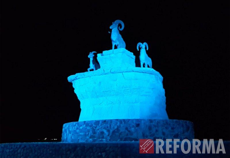 Фото Подсветка группы скульптур в г. Актау