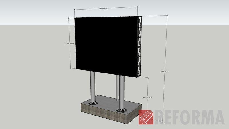 Фото Металлоконструкции для экранов и медиафасадов