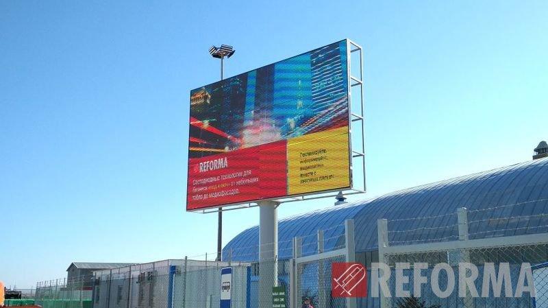 Фото Светодиодный экран Р8 в порту Курык