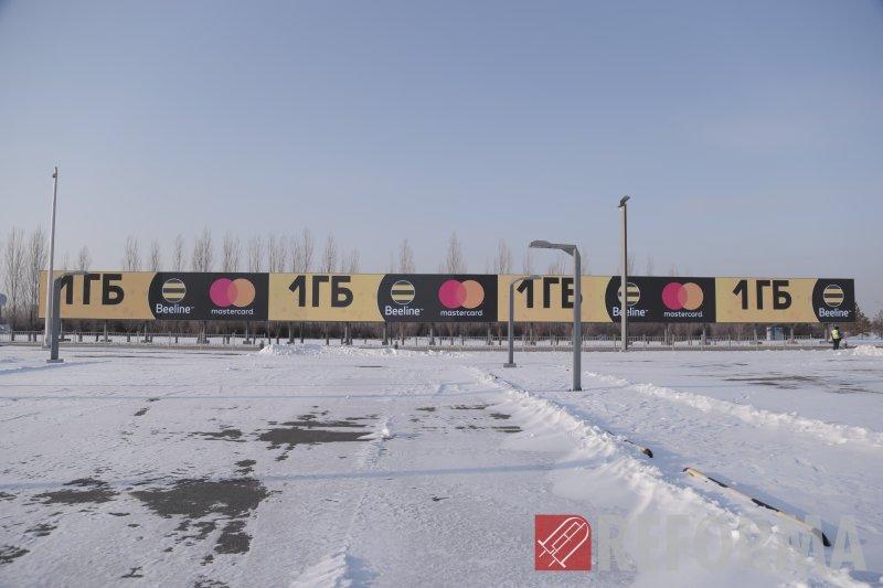 Фото LED экран в международном аэропорте г. Нур-Султан